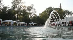 Fountain in Bursa Stock Footage