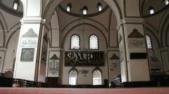 Inside Eski Camii mosque in Bursa Stock Footage