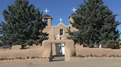 New Mexico Rancho de Taos church 9 - stock footage