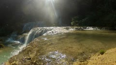 Bright waterfall Stock Footage