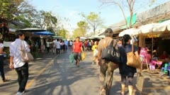 Chatuchak weekend market Stock Footage