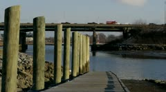 Highway from Piers Stock Footage