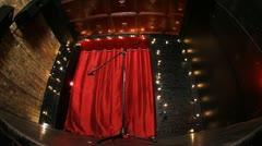 Empty Stage Fisheye Slider Stock Footage
