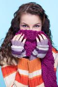 Stock Photo of woman in winter dress