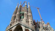 Sagrada Familia Cathedral in Barcelona Stock Footage