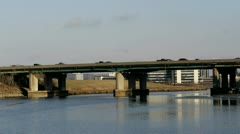 Highway Over River Stock Footage