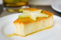 custard cake - stock photo