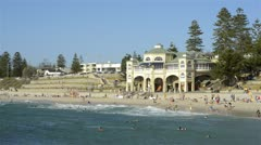 Cottesloe beach on a hot summer day Stock Footage