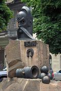 ivan gonta monument - stock photo
