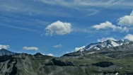 Alpine Mountains Clouds Panning Panning Timelapse Stock Footage