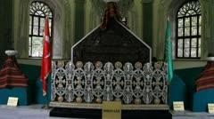 Grave of Osman Gazi Stock Footage