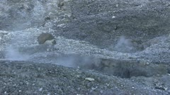 Solfatara - sulfur - pozzuoli Stock Footage
