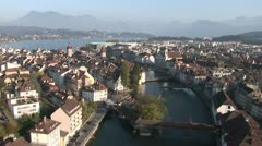 Historical Centre of Lucerne - stock footage