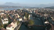 Stock Video Footage of Historical Centre of Lucerne