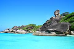 similan national park andaman sea thailand - stock photo
