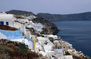 Stock Photo of view of oia village