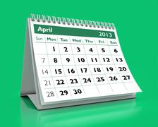 April 2013 calendar Stock Illustration