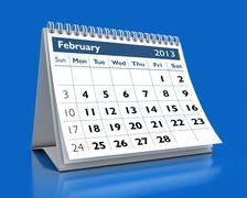 february 2013 calendar - stock illustration