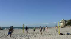 Beach volleyball at cottesloe beach in western australia Stock Footage