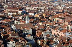 View of venice from campanile of st. mark's basilica Stock Photos