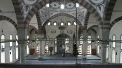 Inside mosque Stock Footage