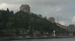 Drive plate - Bosphorus Straits, castle, medium Stock Footage