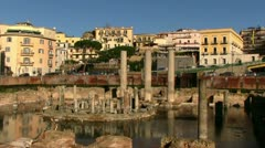 Italy - Campania - Macellum of Pozzuoli Stock Footage