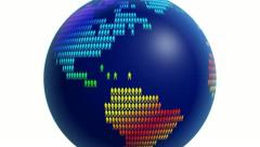 Rainbow world globe made of thousands of people. Stock Footage