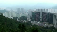 View of Hong Kong (new territories). Stock Footage