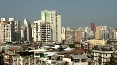 A view of the residential areas of Macau (China) - stock footage