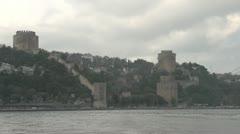 Drive plate - Bosphorus Straits, castle Stock Footage