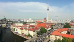 Skyline from Berlin - Timelapse Video Stock Footage