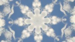 Clouds Sky Kaleidoscope - stock footage