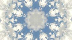 Clouds in sky Kaleidoscope Stock Footage
