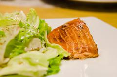 salmon dish - stock photo
