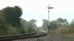 Steam Train Heading Towards Camera with Heat Haze Stock Footage