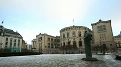 Parliament of Norway Stock Footage