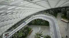 Inside the cloud forest dumb at garden by the bay in Singapore Stock Footage