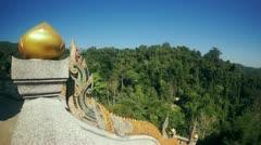 Temple in thai mountain Stock Footage
