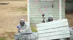 Paintball squad. Stock Footage