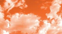 Orange clouds Stock Footage