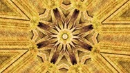 Stock Video Footage of yellow flower kaleidoscope