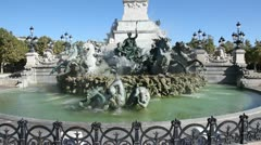 Statue of the girondins, esplanade des quinconces, bordeaux Stock Footage