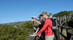 Group of people on a hiking day Stock Footage