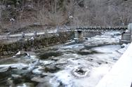Stock Photo of river in national park borjomi, georgia