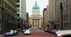 Indianapolis Capitol Building 4K Stock Footage