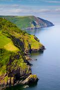Coast of Great Britain in North Devon England - stock photo