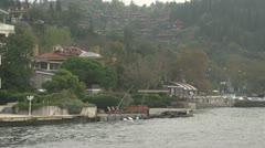 Drive plate - Bosphorus Straits, residential neighbourhood Stock Footage