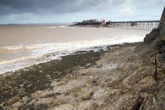 Stock Photo of Old Pier Birnbeck Island Weston-super-Mare Somerset England