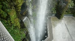 Man made water fall, gardens by the bay, Singapore Stock Footage